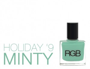 RGB Minty Holiday 9 bottle 300x232 RGB Minty for Holiday 09 Swatches & Review