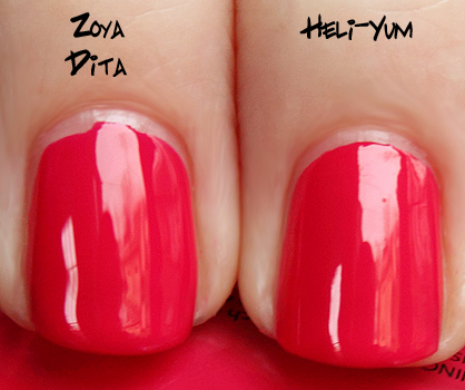 china glaze heli yum zoya dita China Glaze Up & Away Swatches, Review and Comparisons   Part 3