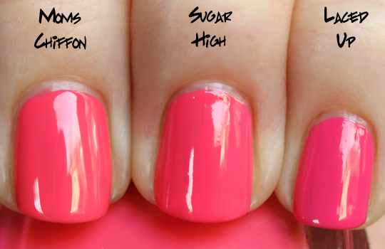 china glaze sugar high chiffon laced up China Glaze Up & Away Swatches, Review and Comparisons   Part 3
