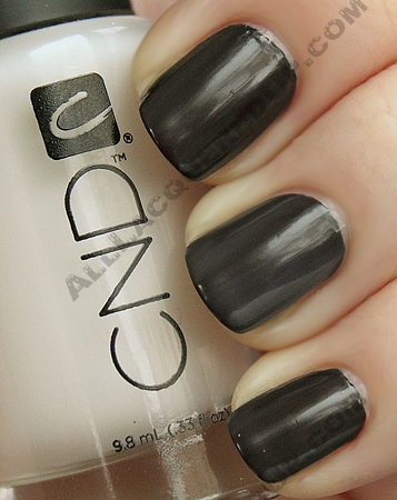 cnd oilslick raisin super matte CND Monday   Oilslick and Raisin In The Sun Layering