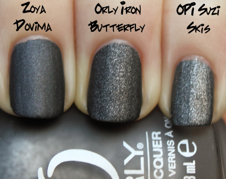 orly iron butterfly opi suzi skis zoya dovima Orly Metal Chic Metallic Matte Swatches & Review