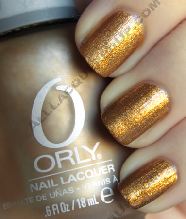 orly solid gold metal chic matte glossy nail polish Orly Metal Chic Metallic Matte Swatches & Review