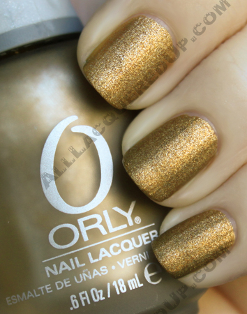 orly solid gold metallic matte metal chic nail polish Orly Metal Chic Metallic Matte Swatches & Review