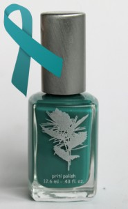 priti nails tulip tree teal bottle 185x300 Priti Tulip Tree Teal for Ovarian Cancer Awareness