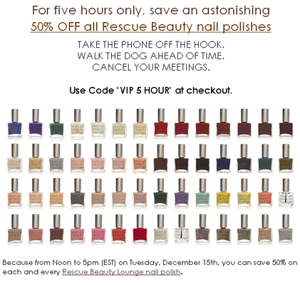 rescue beauty lounge sale code Happy Holidays from Rescue Beauty Lounge