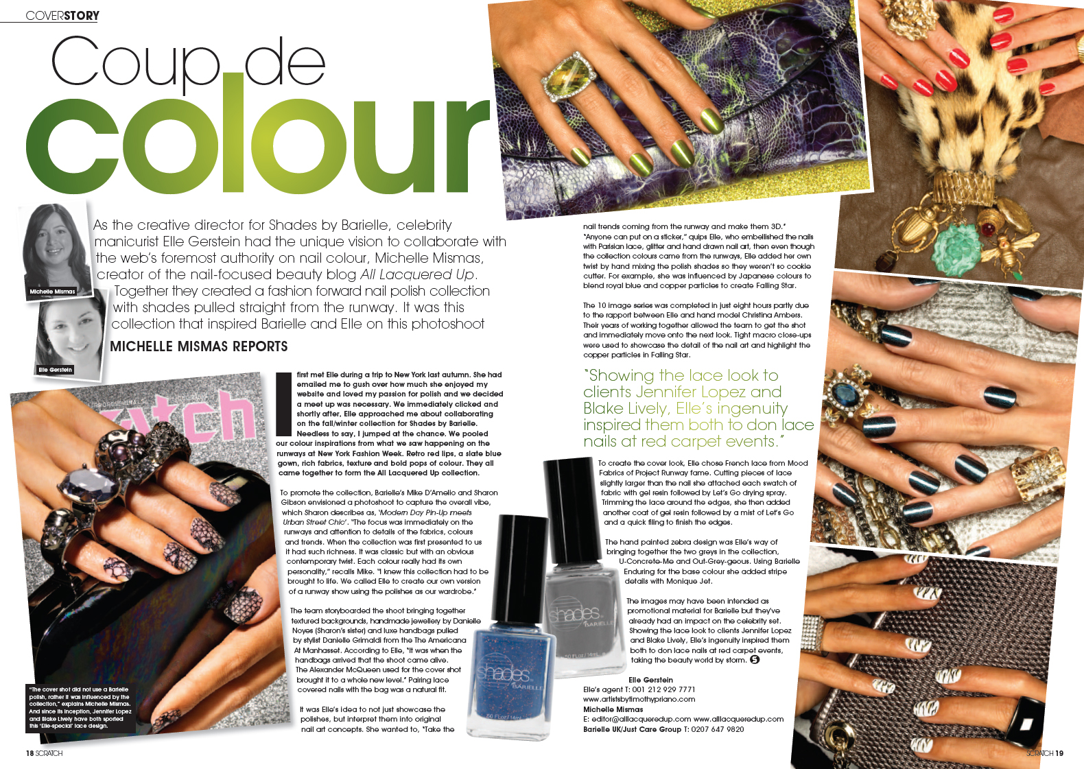 scratch december 09 elle barielle all lacquered up 1 My First Byline for Scratch Magazine