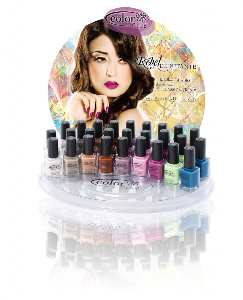 Color Club Rebel Debutante Nail Polish Collection Bottle Display