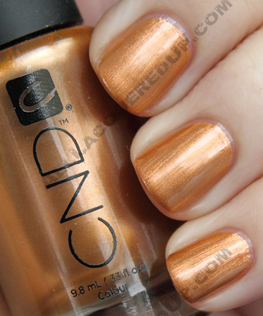 cnd copper chrome colour CND Monday   Layering at Diego Binetti