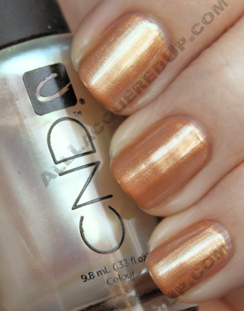 cnd copper chrome gold pearl CND Monday   Layering at Diego Binetti