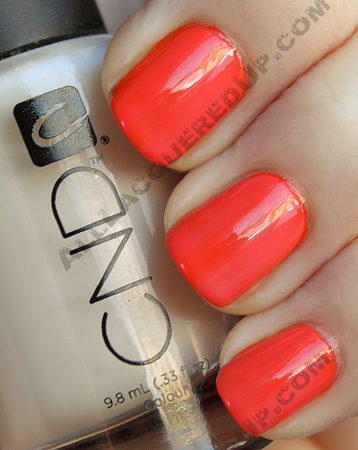 cnd electric orange buff colour nail polish CND Monday   Layering at Diego Binetti