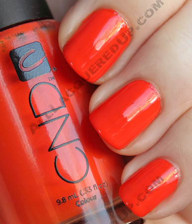 cnd electric orange colour nail polish CND Monday   Layering at Diego Binetti