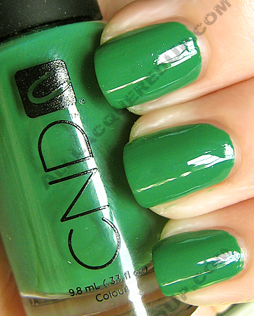 cnd green scene colour effects nail polish CND Monday   Day 5 of the ALU NYFW NOTD Challenge