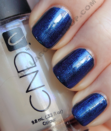 cnd inkwell ice blue shimmer nail polish CND Monday   Layering at Diego Binetti