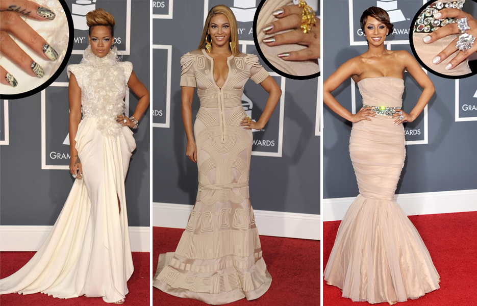 rihanna beyonce keri hilson grammys minx nails Rihanna Is So Money   Getting Minxd for the Grammys