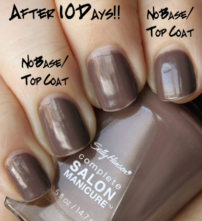 sally hansen complete salon manicure wear test ALU NYFW NOTD Challenge   FW 2010 Day 4