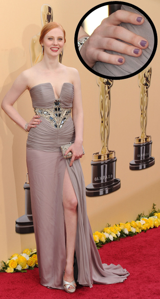 Deborah Ann Woll 82nd Annual Academy Awards Oscars 2010 Oscar Nail Watch 2010   Deborah Ann Woll