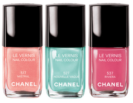 chanel les pop up de chanel summer 2010 le vernis bottles Chanel Nouvelle Vague, Mistral & Riviera Swatches, Review and Comparisons