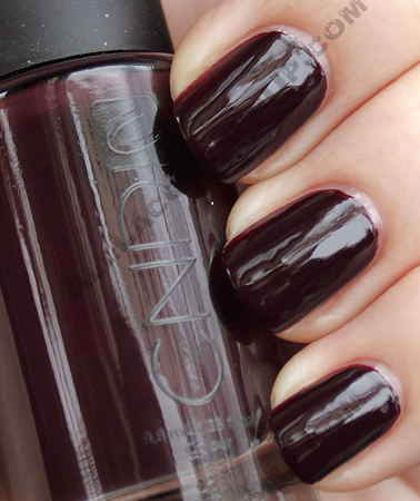 cnd dark ruby colour nail polish nyfw1 CND Monday   A New Fave Found At THREEASFOUR