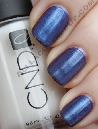 cnd dark ruby ice blue shimmer super matte CND Monday   A New Fave Found At THREEASFOUR