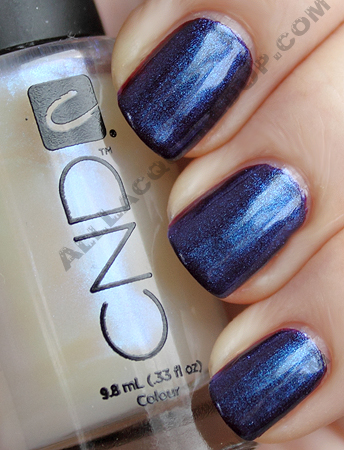cnd dark ruby ice blue shimmer CND Monday   A New Fave Found At THREEASFOUR