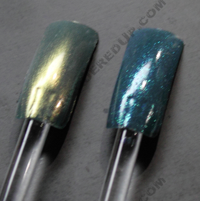 cnd urban oasis teal sparkle gold shimmer A Peek At CNDs Look For Fall 2010