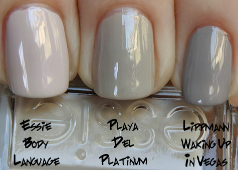 essie playa del platinum comparison Essie Resort Collection Swatches, Review & Comparisons