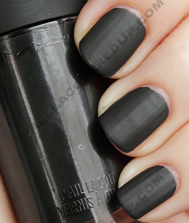 mac black enough riveting spring 2010 MAC Riveting Matte Nail Lacquers Swatches & Review