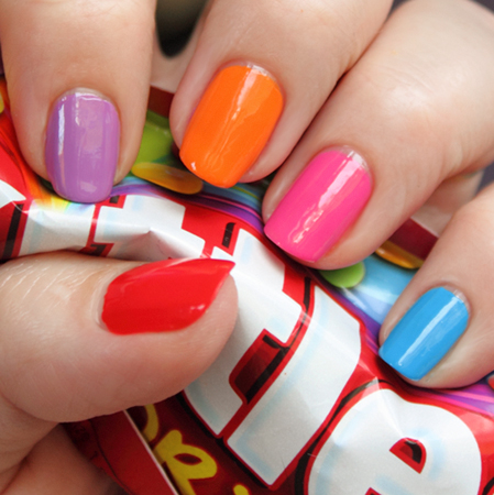 zoya flash collection skittles swatch Zoya Flash Collection Swatches & Review