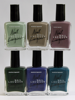 american apparel nail lacquer nail polish bottles