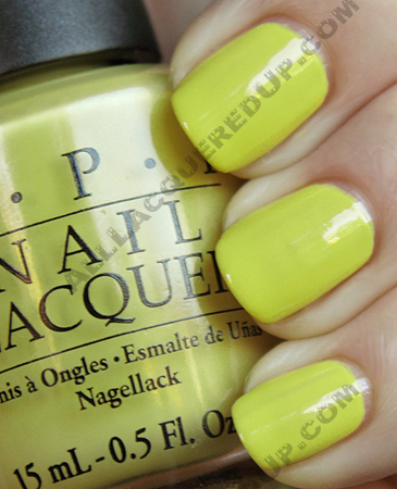 opi fiercely fiona swatch from the shrek forever after brights 2010 collection