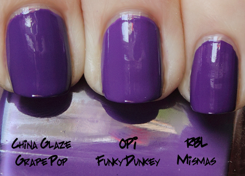 opi funky dunkey comparison swatch from the shrek forever after brights 2010 collection