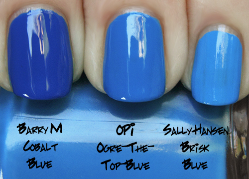 opi ogre the top blue comparison shrek forever after swatch OPI Shrek Forever After Collection Swatches, Review and Comparisons