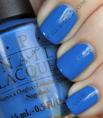 opi ogre the top blue swatch shrek forever after OPI Shrek Forever After Collection Swatches, Review and Comparisons