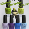 OPI Shrek Forever After Collection Swatches, Review and Comparisons