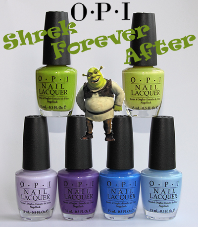 opi shrek forever after collection swatches opi brights 2010