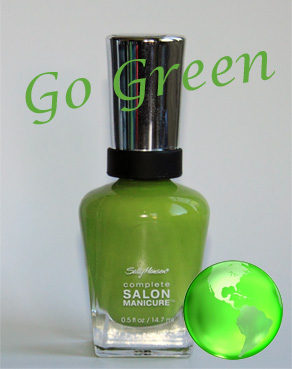 sally hansen grass slipper complete salon manicure Go Green Week   Sally Hansen Grass Slipper