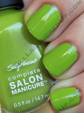 sally hansen grass slipper swatch complete salon manicure