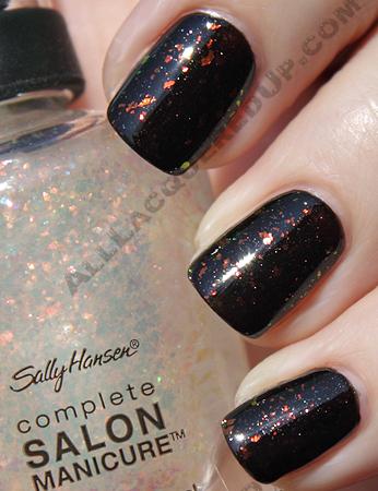sally hansen hidden treasure midnight in ny complete salon manicure swatch