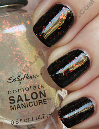 sally hansen complete salon manicure midnight in ny hidden treasure swatch