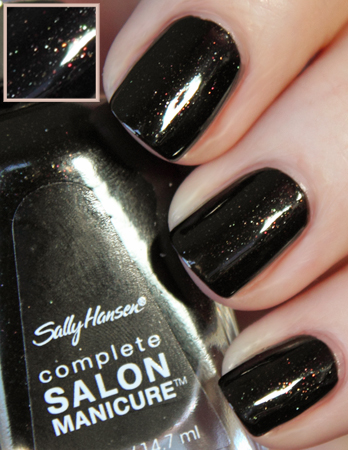 sally hansen midnight in ny swatch Sally Hansen Midnight in NY and Hidden Treasure