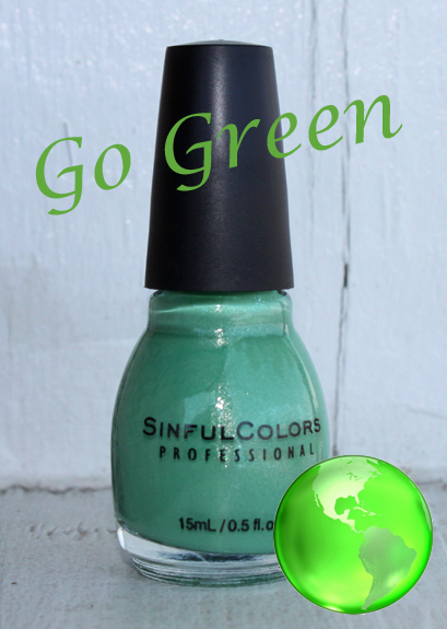 sinful mint apple nail polish bottle