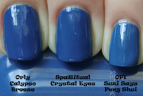 sparitual crystal eyes comparison with orly calypso breeze