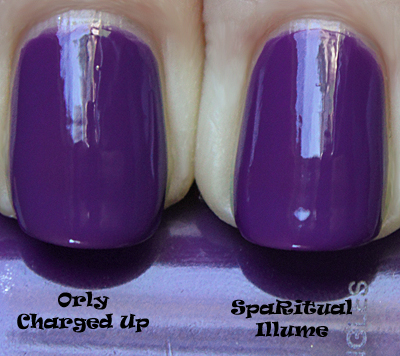 sparitual illume comparison with orly charged up