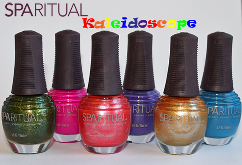 sparitual kaleidoscope collection nail polish bottles