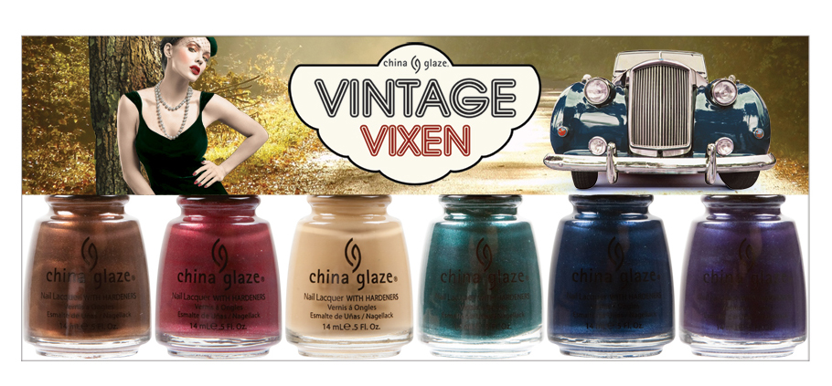 china glaze Vintage Vixen cat's meow six piece set