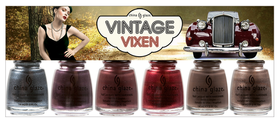 china glaze vintage vixen hotsy totsy China Glaze Vintage Vixen Fall 2010 Preview