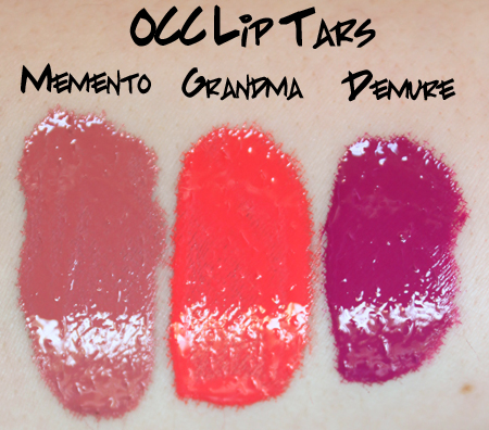 occ lip tar swatch Obsessive Compulsive Cosmetics Lip Tar Swatches and Review