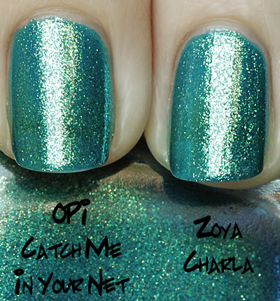 opi catch me in your net comparison with zoya charla
