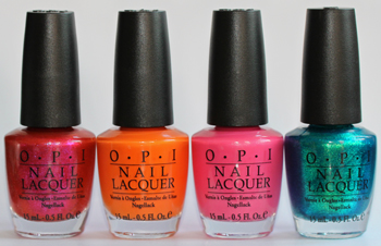 opi summer flutter collection 2010 bottles OPI Summer Flutter Collection Swatches & Review