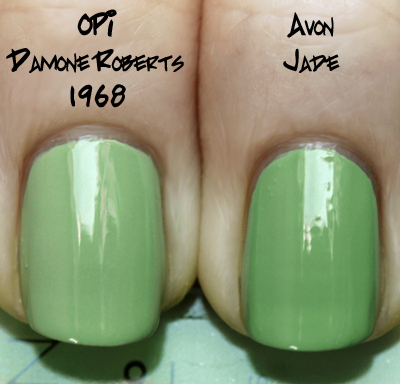 avon jade comparison opi damone roberts Avon Knows The Way To This Girls Heart   New Nailwear Pro Greens!